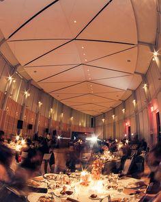 A wedding Brooklyn Botanic Garden's ecologically sustainable Goldman Atrium.
