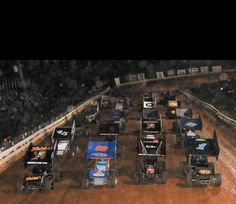 Williams Grove speedway world of outlaws. The best, 4 abreast.