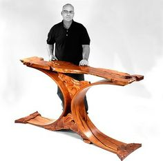 About the Mesquite Furniture Artist Lou Quallenberg and his process of furnituremaking in the Texas Hill Country, art that functions as furniture Unique Furniture, Furniture Design, Spring Art, Outdoor Projects, Community Art, Wood Carving, Wood Art, Woodworking Projects, Contemporary