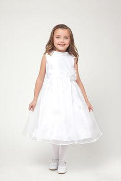 Shop for American made boutique formal wear at deep discount prices. Up to off flower girl dresses, communion dresses, pageant wear for kids, boys suits, & more. Toddler Flower Girl Dresses, White Flower Girl Dresses, Girls Formal Dresses, Girls Communion Dresses, Baptism Dress, Pageant Wear, White Sleeveless Dress, Organza Dress, Satin Flowers