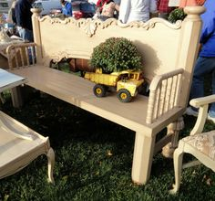 a re-purposed bench--