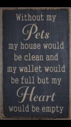 Need my pets