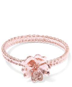 Alex Monroe Rose Gold Wild Strawberry Flower Ring