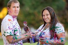 Family Portrait. Paint Wars 2013. Heartwell Park Long Beach California. Couples photography