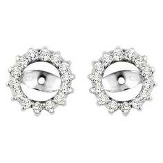 028 crt Cubic Zirconia Mounted In Sterling Silver Earring Jackets ** Details can be found by clicking on the image.