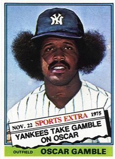 Oscar Gamble's Baseball Card