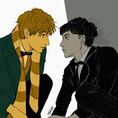 I'm convinced that Credence survived and is now living with Newt in the case, getting better, being taught magic, and helping take care of newts creatures. Harry Potter Fan Art, Harry Potter Universal, Harry Potter Fandom, Harry Potter World, Harry Potter Memes, Fantastic Beasts Fanart, Fantastic Beasts And Where, Creedence Barebone, Credence Fantastic Beasts