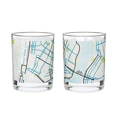 Look what I found at UncommonGoods: City Bike Map Glasses - Set of 2 for $25.00