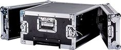 DEEJAY LED TBH4UADHW Fly Drive Case 4u Space Professional DJ Amplifier Case - 18-Inch Body Depth with Pull Out Handle & Low P