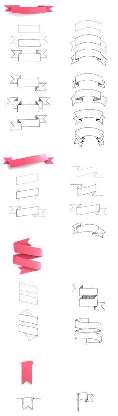 Banner zeichnen Schritt für Schritt                                                                                                                                                                                 Mehr