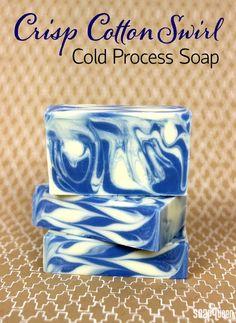 Back to Basics: Crisp Cotton Swirl Cold Process