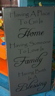 Home Family Blessing Wooden Sign Wall Hanging by AlishaDCP on Etsy, $34.00