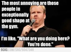 Jim Gaffigan on going to the gym