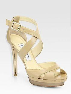 5e20548a9d Shop for Kuki Leather Platform Sandals by Jimmy Choo at ShopStyle.