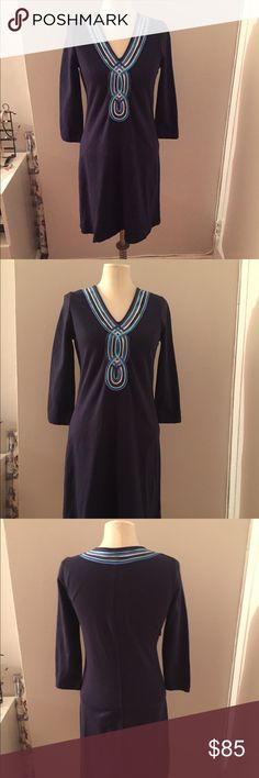 Lilly Pulitzer French Terry Clarkson Dress Small Cutest, perfect condition dress by Lilly Pulitzer! French terry inside, smooth outside. Chest is 36 inches all around, length is 35 inches from shoulder to hem, waist is 33 inches all round plus has some Give and stretch. Sold out online! Lilly Pulitzer Dresses
