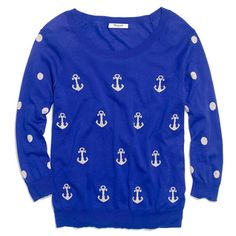 Anchors & Dots Sweater