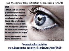 EMDR quote, for more see the blog http://traumaanddissociation.wordpress.com/2013/11/24/emdr/