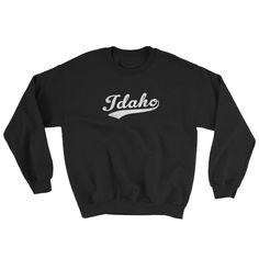 Vintage Idaho ID Sweatshirt with Script Tail Design Adult (Unisex)