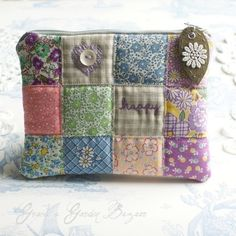 Happy Patchwork Pouch/Clutch Bag