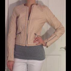 Xhilaration faux leather jacket Xhilaration Faux Leather Jacket. Color: Pale Pink, Size: Small. Worn once. Xhilaration Jackets & Coats