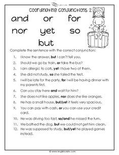 coordinating conjunctions worksheet language grammar grammar worksheets adjective worksheet. Black Bedroom Furniture Sets. Home Design Ideas