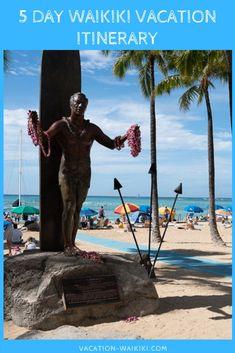 Waikiki 5 Day Itinerary | Vacation-Waikiki Travel Guides, Travel Tips, Waimea Falls, Hawaii Things To Do, Couple Activities, Hanauma Bay, Waikiki Beach, 4 Kids