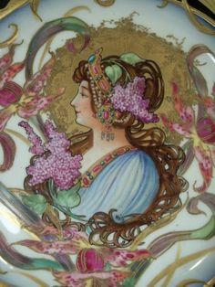 Stunning-Sevres-Art-Nouveau-Porcelain-Centerpiece-Signed