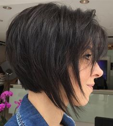 Dark Brown Bob With Short Layers