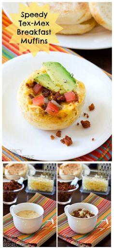Healthy Tex Mex Breakfast Muffins (Egg Muffin!) #breakfast