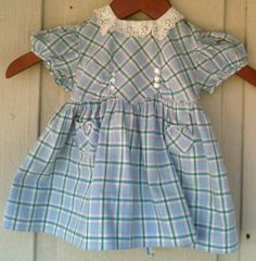 Vintage 1940's Girls Toddlers Dress Nannette by TuleGroveSales