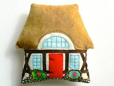 Items similar to Tudor Cottage Pillow bedroom decor, Tooth Fairy pillow, lavender sachet on Etsy Nursery Decor, Bedroom Decor, Tudor Cottage, Felt House, Tooth Fairy Pillow, Small Pillows, Happy Pictures, Lavender Sachets, How To Make Pillows