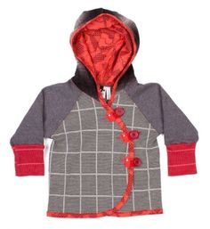 Oishi-M kinder vest grijs - St Hood Childrens Gifts, Cool Hoodies, Baby Kids Clothes, Striped Knit, Winter Wardrobe, Wrap Style, Boy Fashion, Cool Kids, Cute Babies