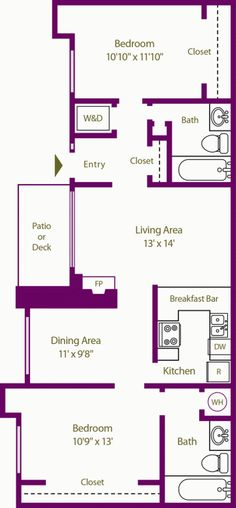 1 & 2 Bedroom Apartment Floor Plans in Colorado Springs, CO | The Knolls at Sweetgrass Apartment Homes