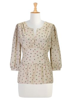 Women S Clothing , Womens Apparel Online Womens designer fashion - Tunic Tops - Shop for Tunic Tops, Women's Long Sleeve Tops - | eShakti.com