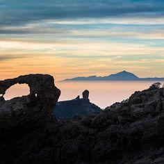 Vista del Teide desde la isla de Gran Canaria,