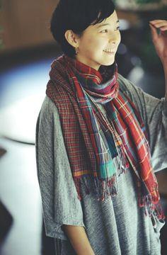 Double-layered scarf   JURGEN LEHL online shop.