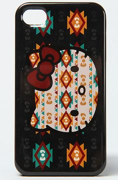 $24 The Hello Kitty Native iPhone 4 Case by Loungefly #hellokitty - Use repcode SMARTCANUCKS for 10-20% off on #Karmaloop - http://www.lovekarmaloop.com