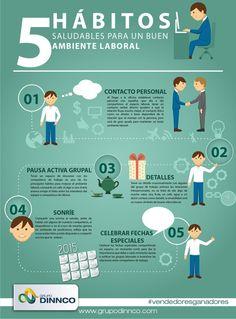 5 hábitos saludables para un buen ambiente laboral #saludlaboral