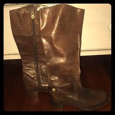 Brown leather boots! Great boots with a little heal! Very soft leather Etienne Aigner Shoes Heeled Boots
