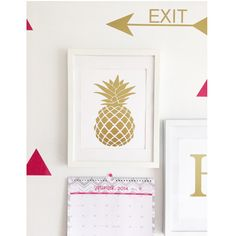 Gold pineapple wall print by FancyItPretty on Etsy https://www.etsy.com/listing/198544908/gold-pineapple-wall-print