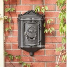 Vintage Retro Aluminium Alloy Mail Box Mailbox Metal Letters Post Box Wall Mounted Postbox Vintage Home Garden Yard Decor (China)