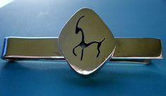 Los Castillo Mexico Taxco Sterling Silver Tie Clip Capricorn Design Goat Gazelle #LosCastillo