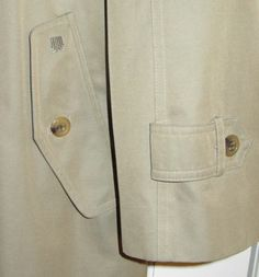 $1500 Lanvin Paris Sheer Shiny Long Khaki Trench Coat Sharkskin Liner Wool 45   eBay