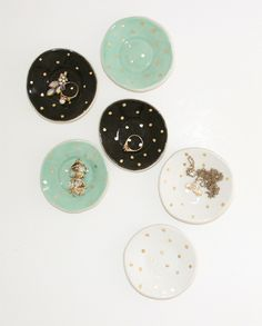 Ring Dishes With Golden Dots -Handmade with love