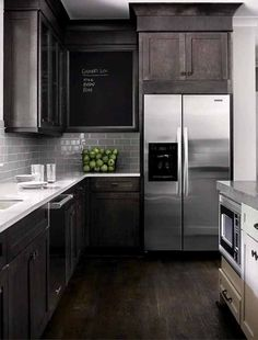 Love the tile backsplash, white countertops and cabinets. My kind of Kitchen!