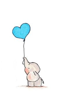 Kawaii Drawings, Cartoon Drawings, Cartoon Art, Pencil Drawings, Art Drawings, Cute Easy Animal Drawings, Baby Animal Drawings, Drawing Heart, Drawing S