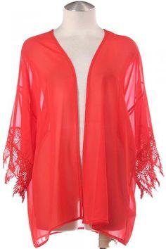 Orange Chochet Sleeve Shrug Spring Summer Fashion Cardigan Easter Women's Fashion