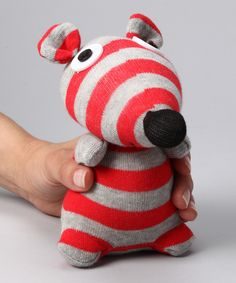 Stripe Mouse Sock Doll