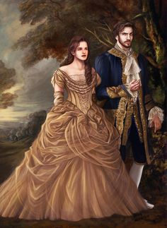 Here's another Beauty and the Beast concept painting I did! This knocks out two designs in one piece: Emma Watson in Belle's gold dress and Dan Stevens as the Beast in his human form. In the words of Glen Keane through Belle in a...
