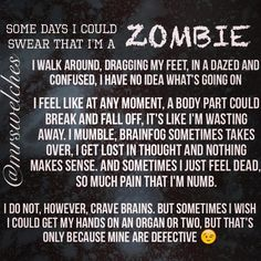 Screw today. I'm going back to bed.    Www.Facebook.Com/mrswelcheswarriors #spoonie #chronicillness